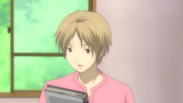 Some men can pull off pink. Natsume is not one of them