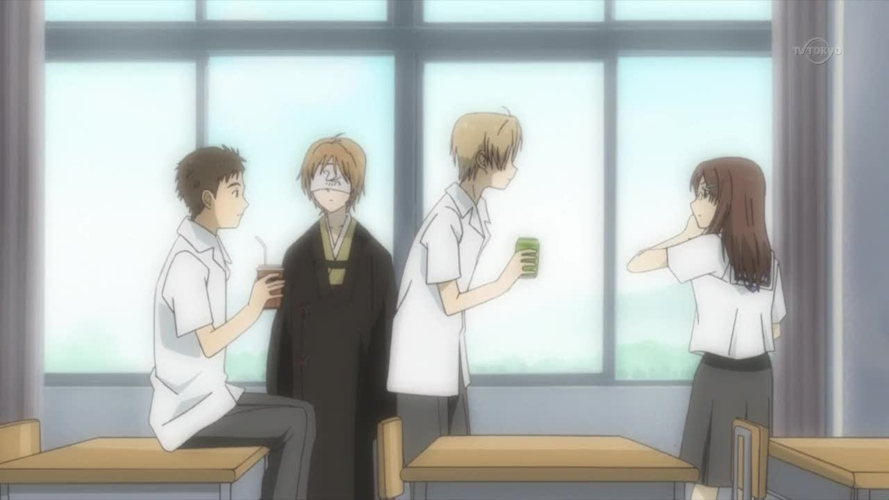 LOL, I loved this bit. First Natsume spat juice all over her...