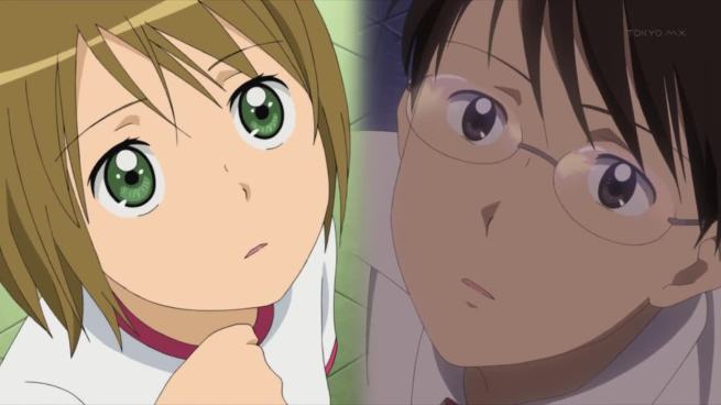 Split screen, both looking at the sky. Yup, in accordance to anime laws, you two are destined for each other