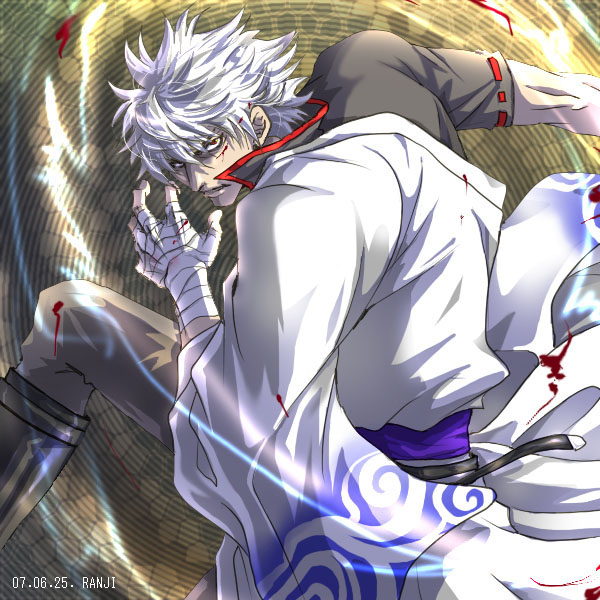 Gintoki looking pretty damn manly if I may say so myself
