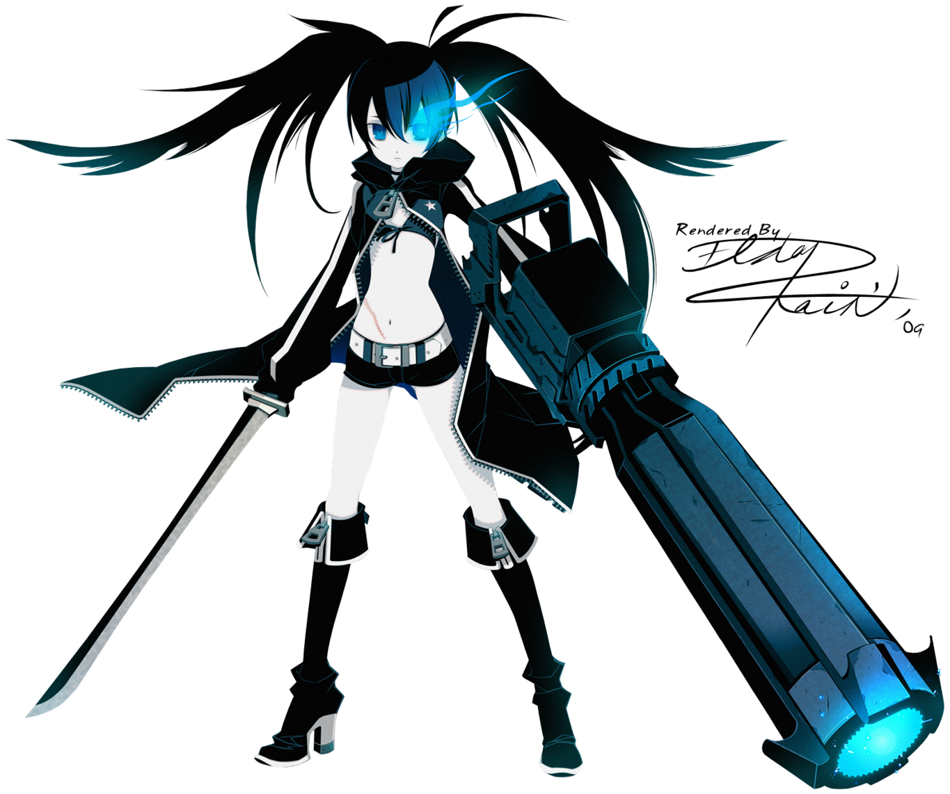 Black Rock Shooter's Gun Help?